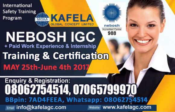 NEBOSH IGC & Paid Work Experience/Internship For May 2017 Special