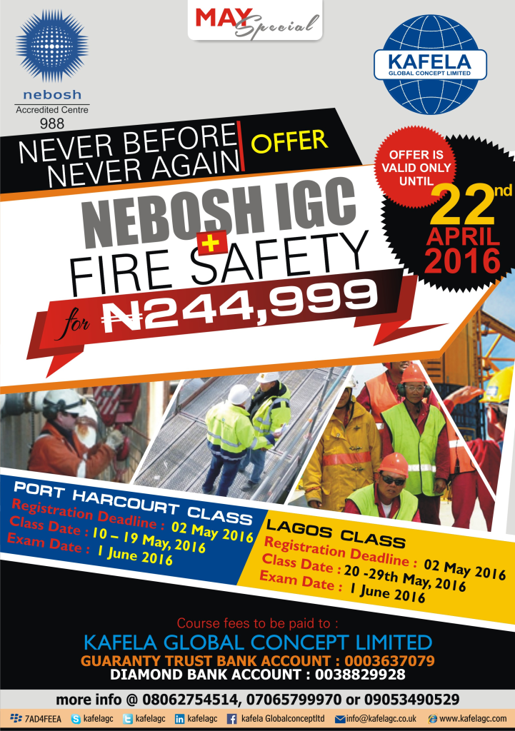 NEBOSH IGC + Fire Safety Combo Special in Lagos for ₦244,999.