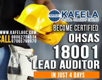 Become a Certified OHSAS18001 Lead Auditor in 4 Days