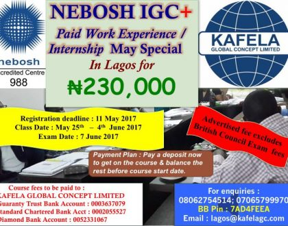 NEBOSH OBE Study from anywhere in the World Special