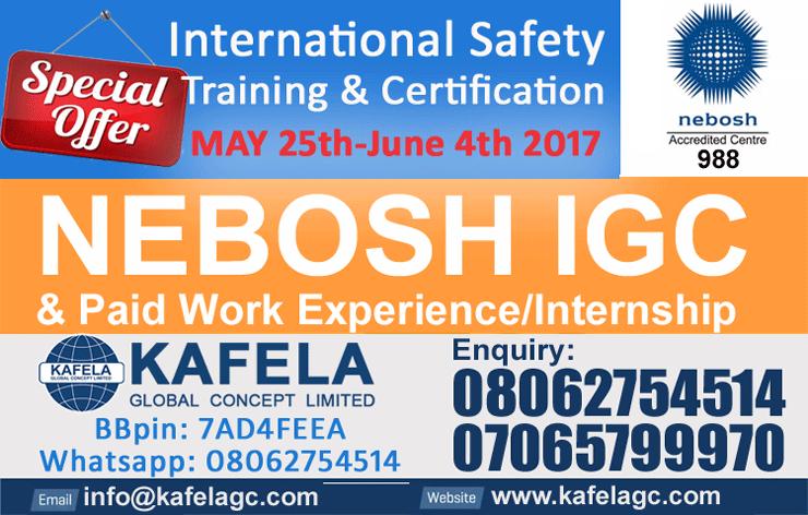 Best NEBOSH Accredited Training Centre In Nigeria