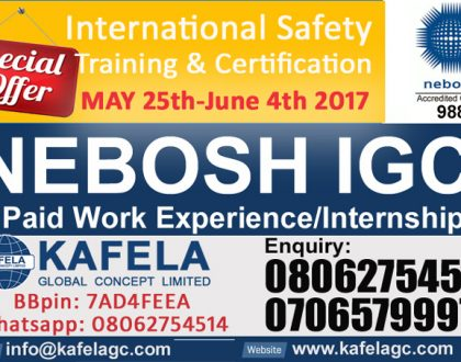 Boost your career with the NEBOSH Diploma in Occupational Safety and Health.