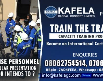 Are You A HSE Personnel Who Do Regular Presentation To Team? Consider Kafela GC Train the Trainer Course