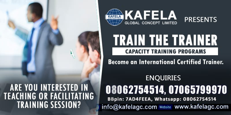 Do You Want To Teach International Accredited Courses? Consider Kafela GC Train the Trainer Course