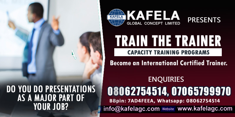 Do You Do Presentations as a Major Part of Your Jobs? Consider Kafela GC Train the Trainer Course