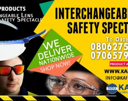 Order Interchangeable Safety Spectacle from Kafela PPE Kits Online Store